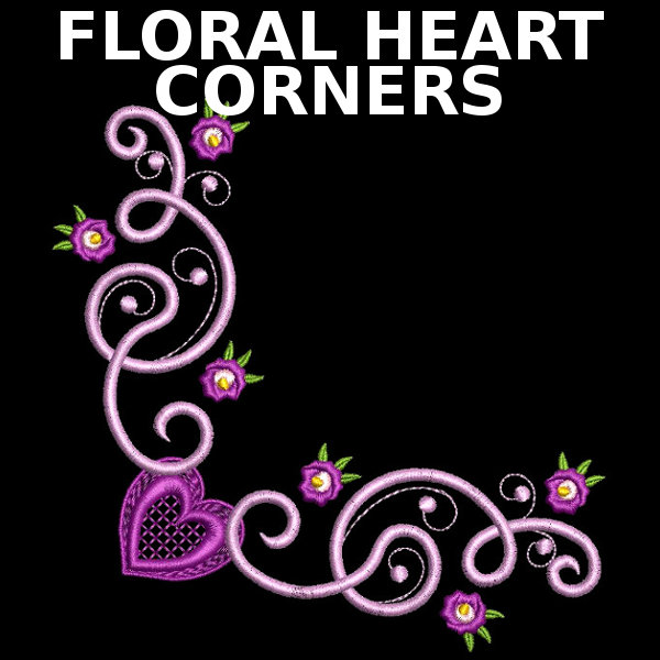 Floral Heart Corners