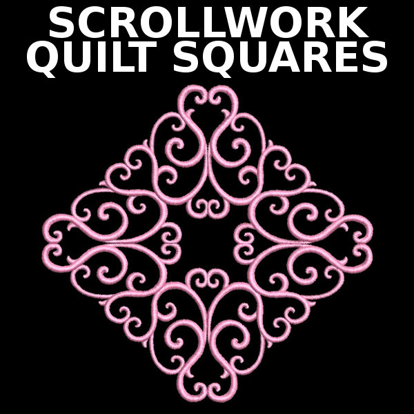 Scrollwork Quilt Squares